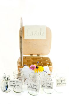 how cute is this idea...a message in a mason jar for 1 year anniversary, 5 year anniv, after the honeymoon etc.