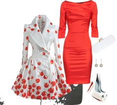 """""""Red & White."""" by raowen on Polyvore"""