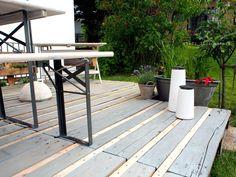 Terrasse aus Europaletten   Europalette   Pinterest   Gardens and ...
