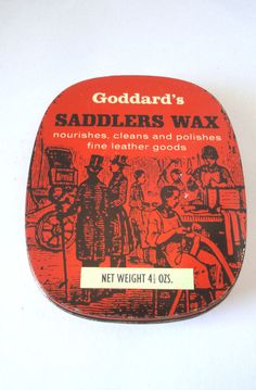 Goddard's Saddlers Wax Vintage Collectible Tin  #Goddards