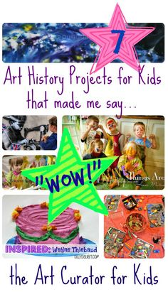 "Exciting Art History for Kids Projects that Made Me Say ""WOW!"" the Art Curator for Kids - 7 Exciting Art History Projects for Kids that made me say Wow!the Art Curator for Kids - 7 Exciting Art History Projects for Kids that made me say Wow! Art History Projects For Kids, Art History Lessons, History For Kids, Art Projects, History Facts, Creative Activities For Kids, Art Activities, History Activities, Art Curriculum"