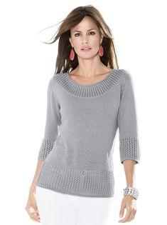 Пуловер цвет светло-серый всего 2399 р. купить в WITT International - 324.861.052