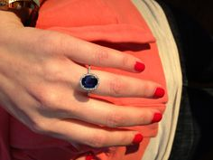 My blue sapphire engagement ring!