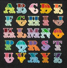 Circus A-Z (2009)  I love this for the font style and colours that go with each letter of the alphabet