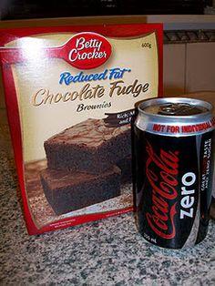pinterest 365 day 185: diet coke fudge brownies ... so good!  recipe thanks to aunt peg's recipe box :)