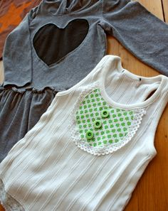 Good idea--Tutorial to save stained shirts with freezer paper stenciling, appliqué and reverse appliqué