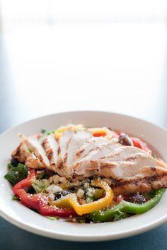Mediterranean Chicken Salad served with our homemade herb vinaigrette.