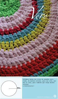 alfombra de 80cm.  varios colores