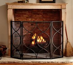 Moroccan Twist Fireplace Triple Screen | Pottery Barn