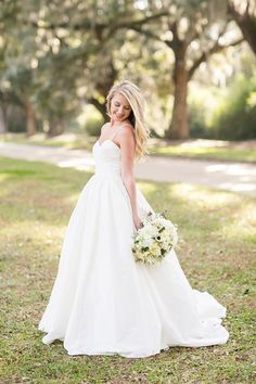gorgeous + simple ball gown | Courtney Dox #wedding