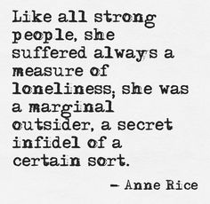 'A Marginal Outsider' by Anne Rice