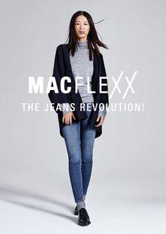MACFLEXX für Damen »Denim Innovation HW/2016« ein neues Konzept für ein aktives Leben für Damen. Der innovative, superelastische Denim überzeugt durch eine nie dagewesene Bewegungsfreiheit, Flexibilität sowie höchsten Tragekomfort  >> Entdeckt auf Jeans-Meile!