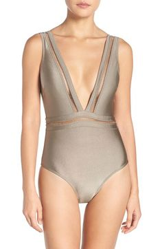 Ted Baker London Ted Baker London Plunge One Piece Swimsuit available at #Nordstrom