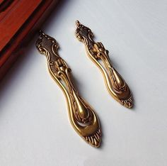 Dresser Pulls Knobs/ Drawer Knobs Pulls Handles Drop Pulls Handles Back Plate European Brass Cabinet Knobs Pulls Handle Vintage Hardware by MINIHAPPYLV on Etsy
