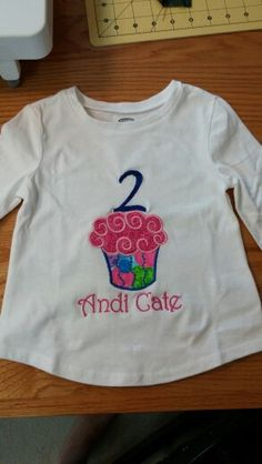 Embroidered Birthday shirt for granddaughter