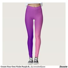 Create Your Own Violet Purple Radial Ombre Leggings