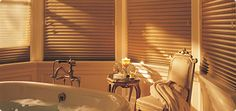 "Design Trends: Hunter Douglas Window Treatments--""wood"" blinds are a composite but beautiful"