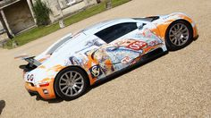 The Bugatti Veyron in Gulf as you have never seen it before