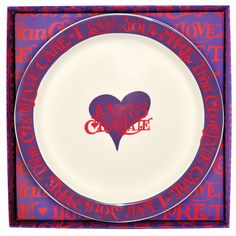 I Love Chocolate Cake Plate (Boxed) for £39.95 #fabfind. Make tea-time extra special by sharing a slice of #cake with the one you love, served on this fun and funky #plate.