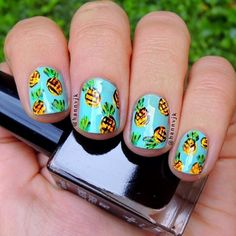 pineapple  by hannvjk #nail #nails #nailart