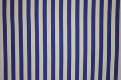 Classic blue and white striped fabric from The Stripes Company available by the metre 100% yarn dyed cotton