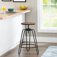 less than $40!!!  Better Homes and Gardens Adjustable-Height Spin Stool, Multiple Colors - Walmart.com