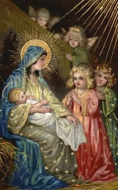 Mary, Baby Jesus, and the Angels
