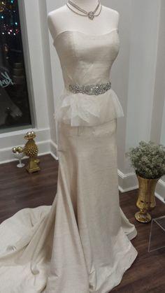Amanda Belt - Wedding Crystal Beaded Satin Sash Bridal by SomethingTreasured, $285.00