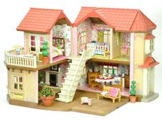 Sylvanian Families Decorated Willow Hall Bundle. Lots Of Furniture & Extras