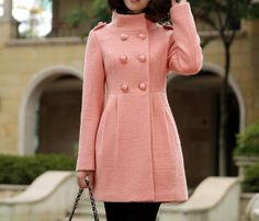 Women Black Princess Wool Cashmere coat double by AngelCity2012 ...