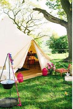 Wedding Tent - Read more on One Fab Day: http://onefabday.com/festival-style-wedding-ideas/
