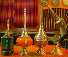 Exotic set of perfume dispensers