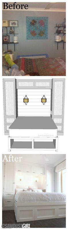 Small Bedroom Built-ins (my ideal arrangement) and a lot lot more