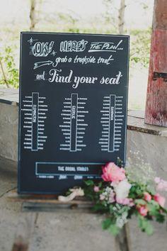 Love this blackboard table plan!   #wedding #tableplan #weddingplanning #diywedding #rusticwedding