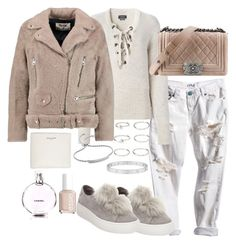 """""""Untitled #3073"""" by theeuropeancloset on Polyvore featuring Isabel Marant, Acne Studios, Steve Madden, Forever 21, Yves Saint Laurent, Monica Vinader, Cartier, Essie and Chanel"""