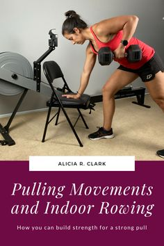 Alicia R. Clark | If you're pulling in with rowing, why should you do other pulling exercises? This post is going to answer that, as well as show you how to start doing these exercises and how to start incorporating them with indoor rowing. #homeworkouts #homegym #garagegym Rowing Exercise, Full Body Training, Strength Program, Indoor Rowing, Cable Row, Garage Gym, Chin Up
