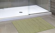 """Royal Bath Collection Luxurious Memory Foam Solid Color Large (21"""" x 34"""") Bath Mat with Anti-Slip Latex Backing (Sage)"""
