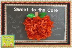 New Paper Tree Classroom Bulletin Boards Reading Corners Ideas Apple Bulletin Boards, September Bulletin Boards, Back To School Bulletin Boards, Preschool Bulletin Boards, Bullentin Boards, Infant Bulletin Board, Paper Tree Classroom, Apple Classroom, Classroom Door