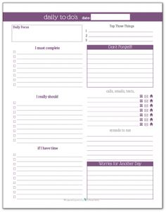 Printable Daily To Do List Template To Get Things Done  Design