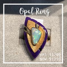 6e3454942b86 Fabulous Sudalite and Opal Ring from Star s personal Santa Fe collection.  This original design is