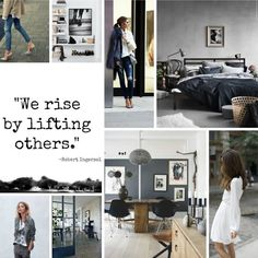 The Design Chaser: Pinterest | Picks & Peeks The images are all about moody greys and raw concrete, softened with fresh neutrals and feminine touches.