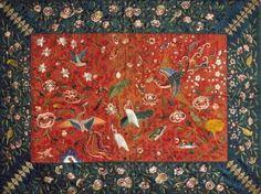 자수 왕비방석. 자수박물관 소장. 한국민족문화대백과사전 사진(embroidery cushion cover for queen) Korean Art, Korean Traditional, Ribbon Embroidery, Needlework, Oriental, Workshop, Patches, Arts And Crafts, Textiles