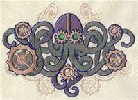 6 piece Set BATH towels  Steampunk Octopus & by PeriwynklePlace, $125.00