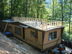 ... about little house on Pinterest   Mobile Homes, Single Wide and Cabin