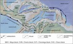 Tectonic sketch map of the Caribbean area