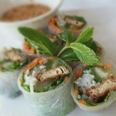 Fresh Spring Rolls @ Basil Thai Restaurant & Bar