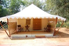 Luxury camps in the jungle, on the border of Ranthambore National Park - the best for tiger spotting