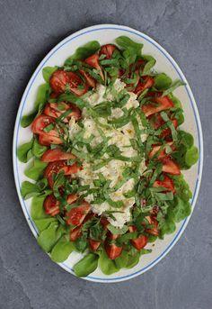 Kanapeet: Tomaatti-mozzarellasalaatti - klassikko sopii juhlapöytään