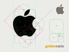 Apple logo is designed by using the golden ration