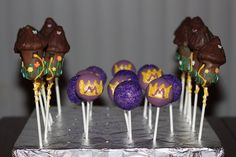 Tangled cake pops. Could probably do the balls, but I'm pretty sure there's no way I could pull off the towers!